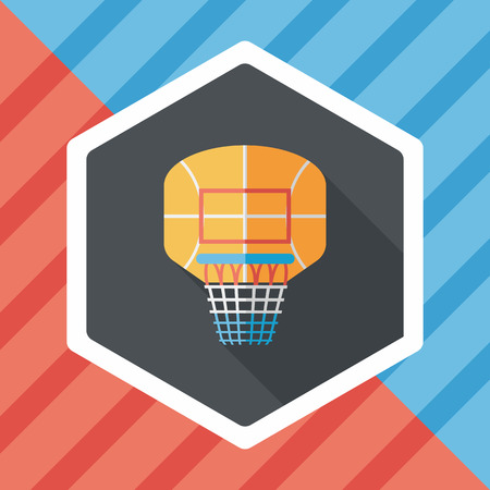 backboard: basketball backboard flat icon with long shadow,eps10
