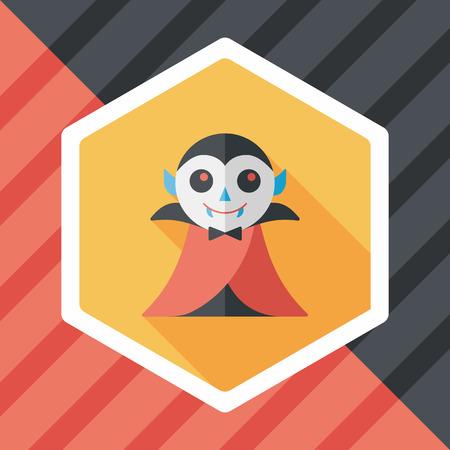 inhumane: Vampire flat icon with long shadow, eps10