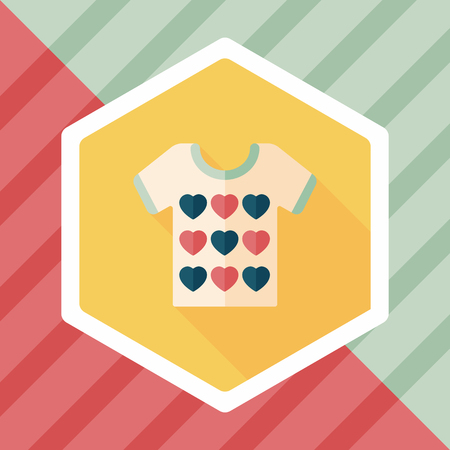 Valentine's Day clothes flat icon with long shadow,eps10 向量圖像