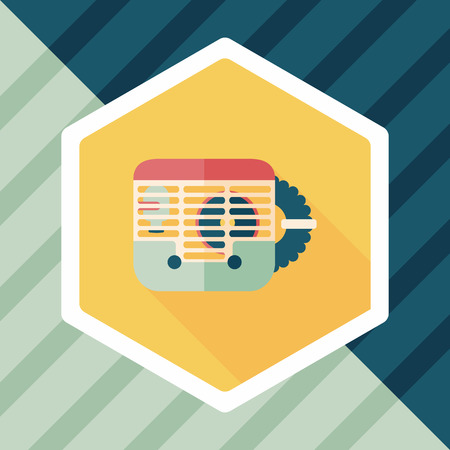 carriers: Pet mouse cage flat icon with long shadow,eps10 Illustration
