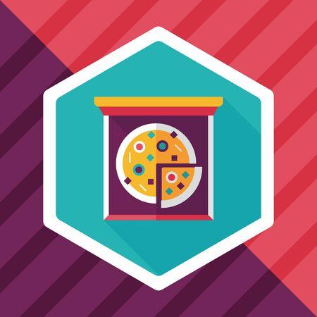 binge: Pizza flat icon with long shadow,eps10
