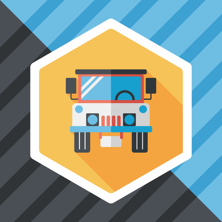 adventurer: Transportation hammer flat icon with long shadow,eps10 Illustration