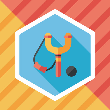 slingshot flat icon with long shadow