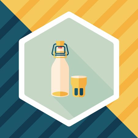 canned drink: kitchenware preserving drink flat icon with long shadow