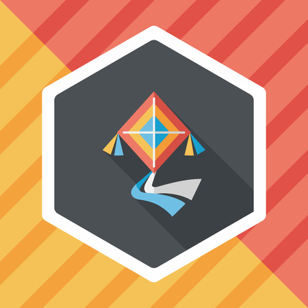 fluctuation: kite flat icon with long shadow
