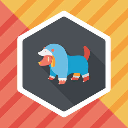 Pet Clothes flat icon with long shadow
