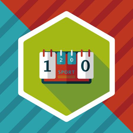 scoreboard timer: scoreboard flat icon with long shadow