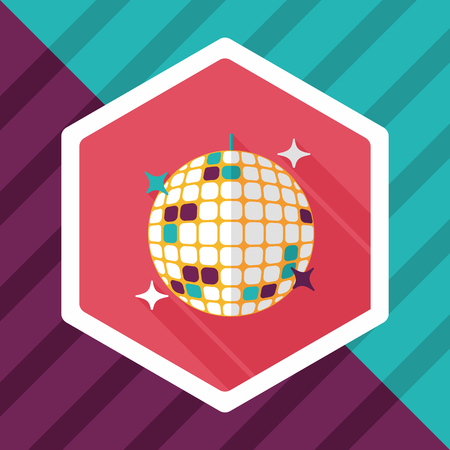 discoball: Disco ball flat icon with long shadow,eps10 Illustration
