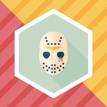 front of the eye: Halloween mask flat icon with long shadow,eps10