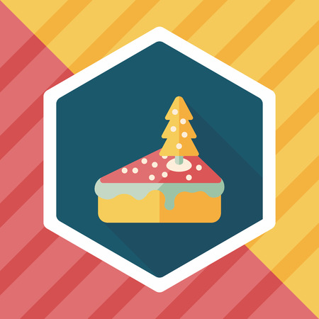 christmas cake: Christmas cake flat icon with long shadow,eps10
