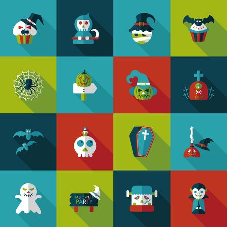 Happy halloween party icons set Stock Vector - 59965859