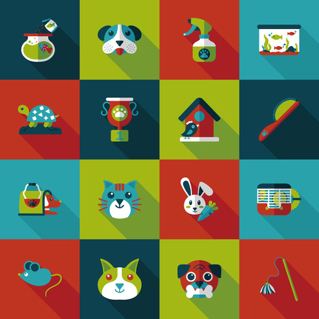 conservative: Pet and veterinary icons set Illustration