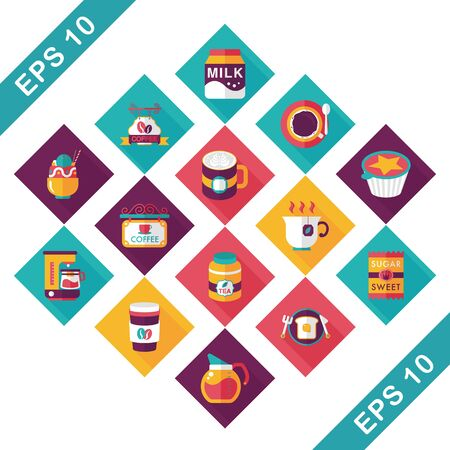 brewed: Coffee and tea icon set Illustration