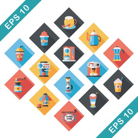 pause icon: Coffee and tea icon set Illustration