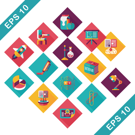 School and education icons set 向量圖像