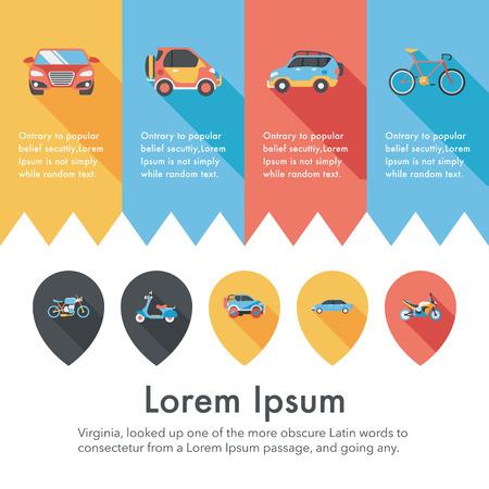 transportation icons: Transportation and vehicle icons set