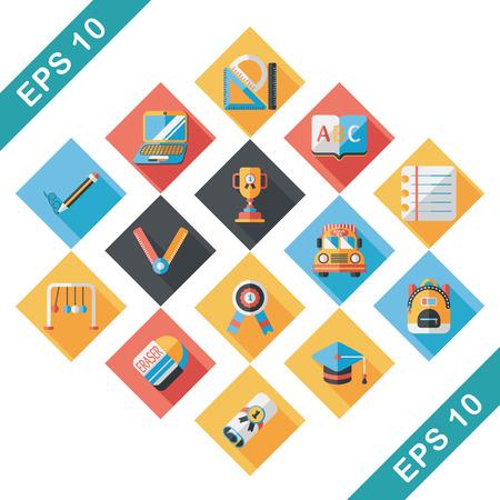 School and education icons set Illustration