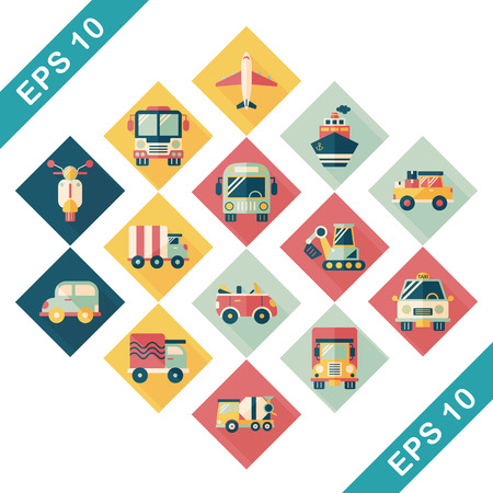 monorail: Transportation and vehicle icons set