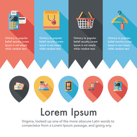 trolley case: Shopping and online shop icons set