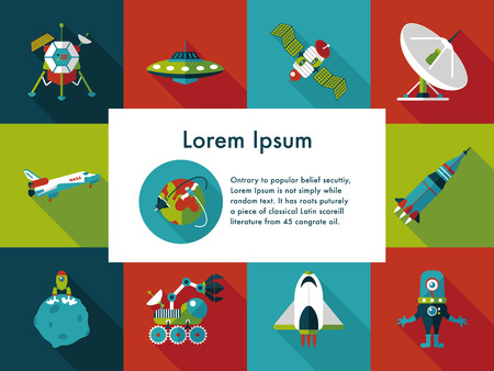 astronomy: Space and astronomy icons set