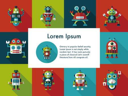 artificial leg: robot and artificial intelligence icons set