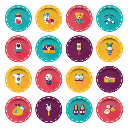 Kid and baby icons set