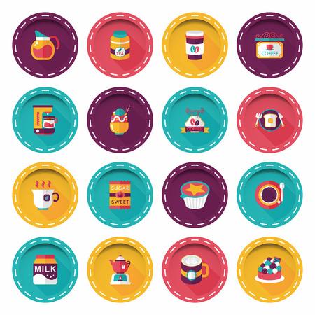Coffee and tea icon set 向量圖像