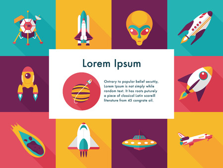 Space and astronomy icons set