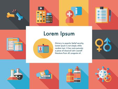 Hospital and health icons set Illustration