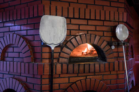 Traditional pizza oven Stock Photo