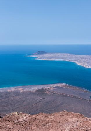 La Graciosa view from Lanzarote island