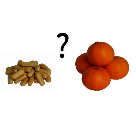フルーツと薬間の選択を表現する図