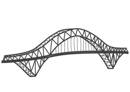 シルバージュビリー橋元ランコーン ウィドネス橋、英国のイラスト
