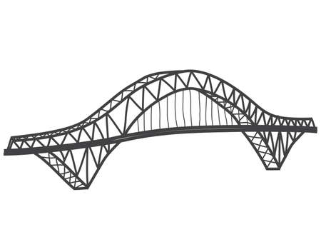 illustration of Silver Jubilee Bridge former Runcorn Widnes Bridge, Britain Ilustracja