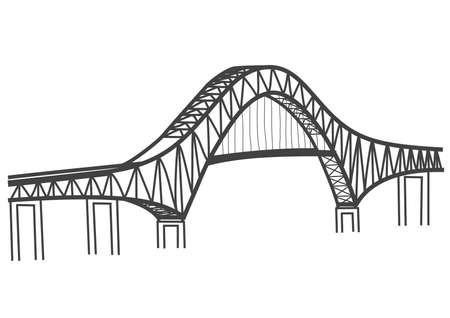 the americas: thatcher ferry bridge illustration