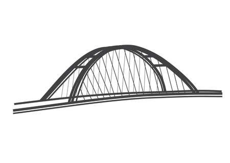 アポロ橋、ブラチスラヴァのイラスト  イラスト・ベクター素材