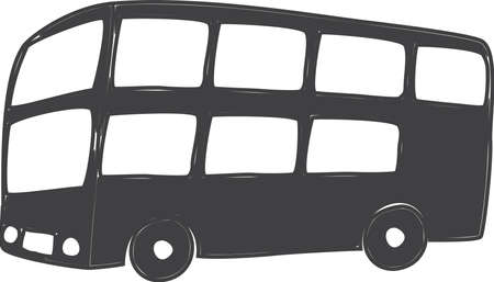 drawing of london typical doubldecker bus