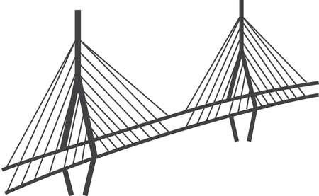 高い橋のイラスト  イラスト・ベクター素材