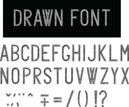 すべての文字、alpjabet の手に描画スタイル