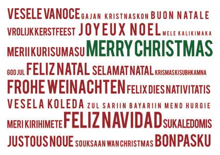 22 の世界言語でメリー クリスマス