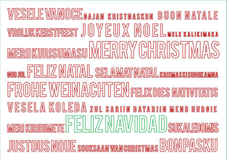 merry christmas in 22 world languages
