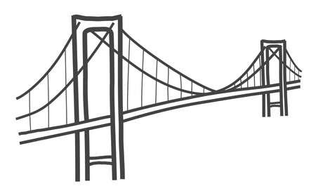 vector illustration of Rainbow bridge, Tokyo Ilustracja