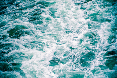 Rough Waters Ocean Waves Background Stock Photo