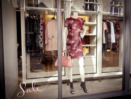 Fashion Window Display with the word