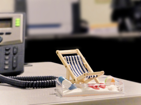 Miniature Beach Chair on Office Desk