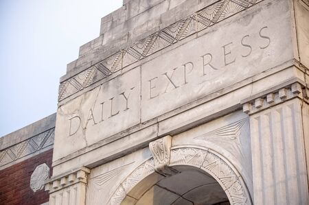 Kirksville, Missouri / USA - May 27 2018: Historic Daily Express Newspaper Building