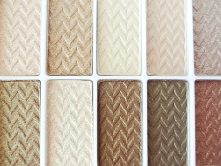 Eyeshadow Palette Close Up Neutral Skin Tones Stock Photo