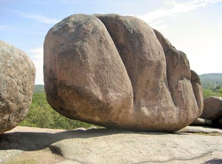 Enorme Boulder en Elephant Rocks State Park - Missouri, EE. Foto de archivo