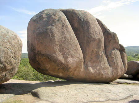 Enorme rotsblok in Elephant Rocks State Park - Missouri, VS Stockfoto