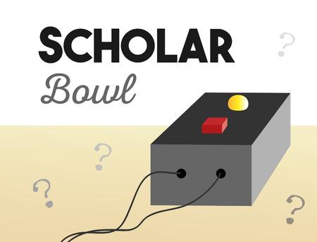 Scholar Bowl Buzzer Illustration with Text 写真素材